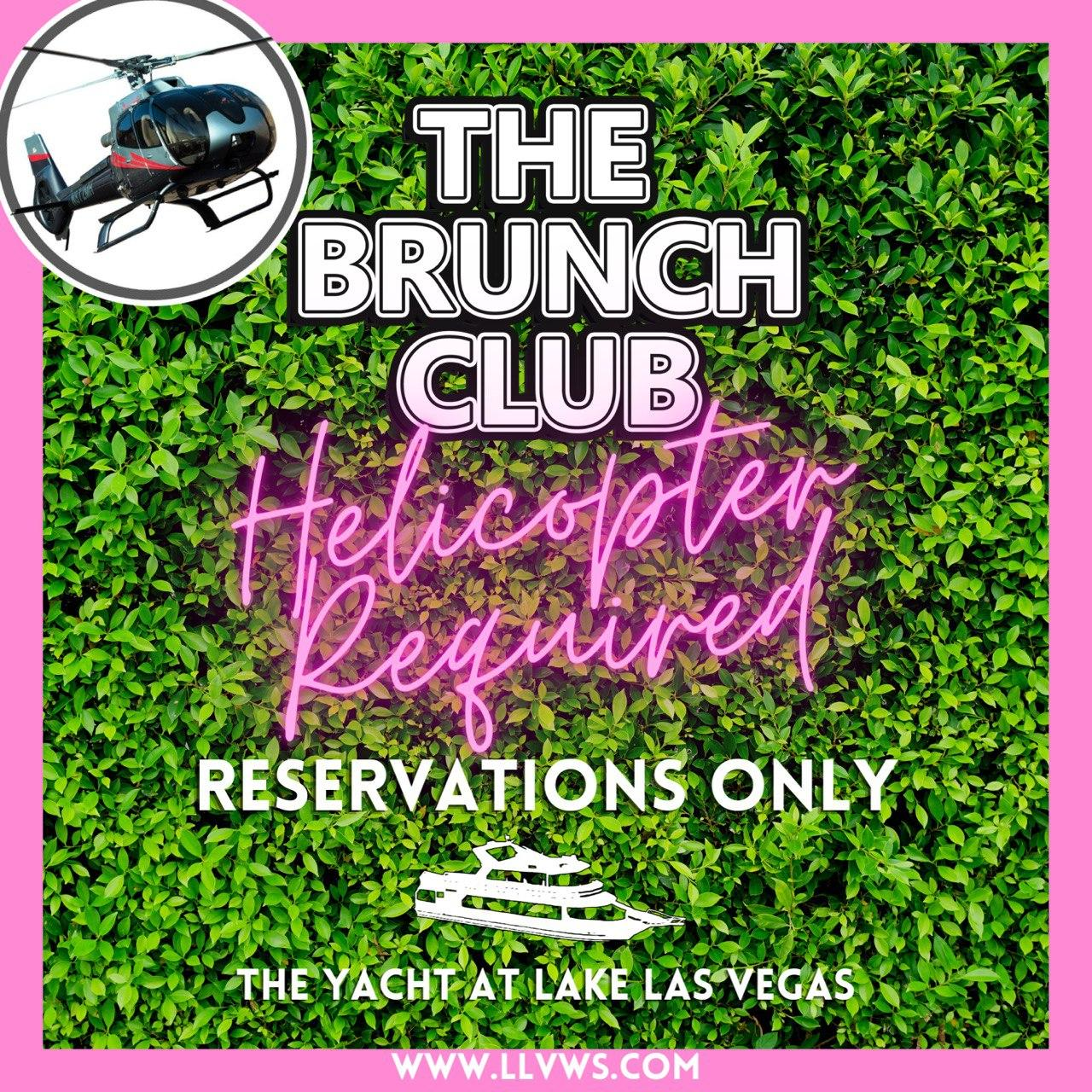 The Brunch Club at Lake Las Vegas: Helicopter Required