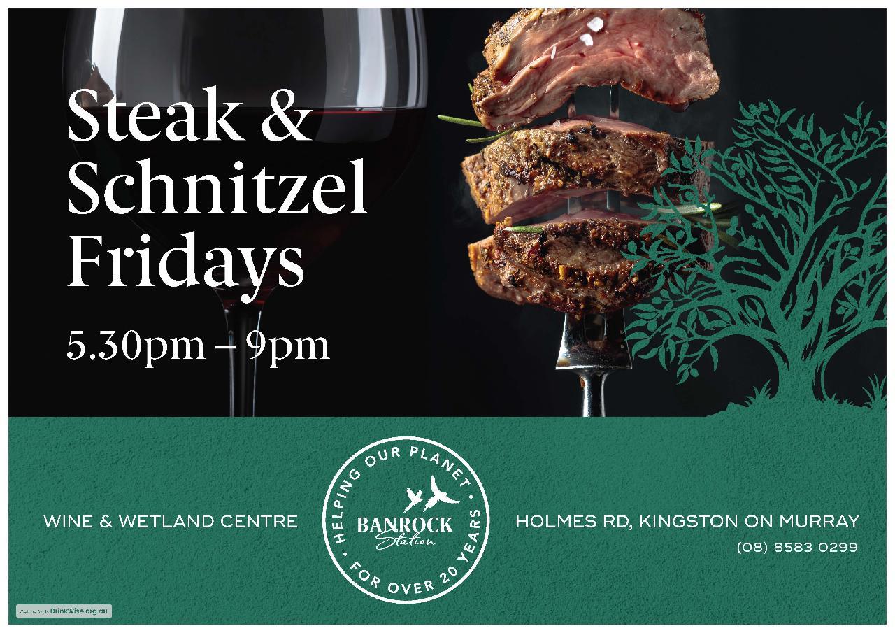 Steak & Schnitzel Night - Reserved Seating