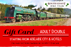 GIFT CARD - South Coast Wine Train from ADELAIDE - ADULT DOUBLE
