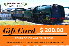GIFT CARD - $200 value for any South Coast Wine Train tour
