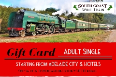 GIFT CARD - South Coast Wine Train from ADELAIDE - ADULT SINGLE