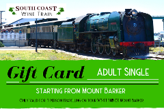 GIFT CARD - South Coast Wine Train from Mt Barker - ADULT SINGLE