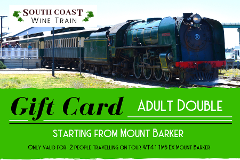 GIFT CARD - South Coast Wine Train from Mt Barker - ADULT DOUBLE