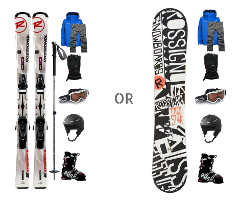 NIGHT Ski / Snowboard Bundle Rentals - Including Boots + Clothing Rentals