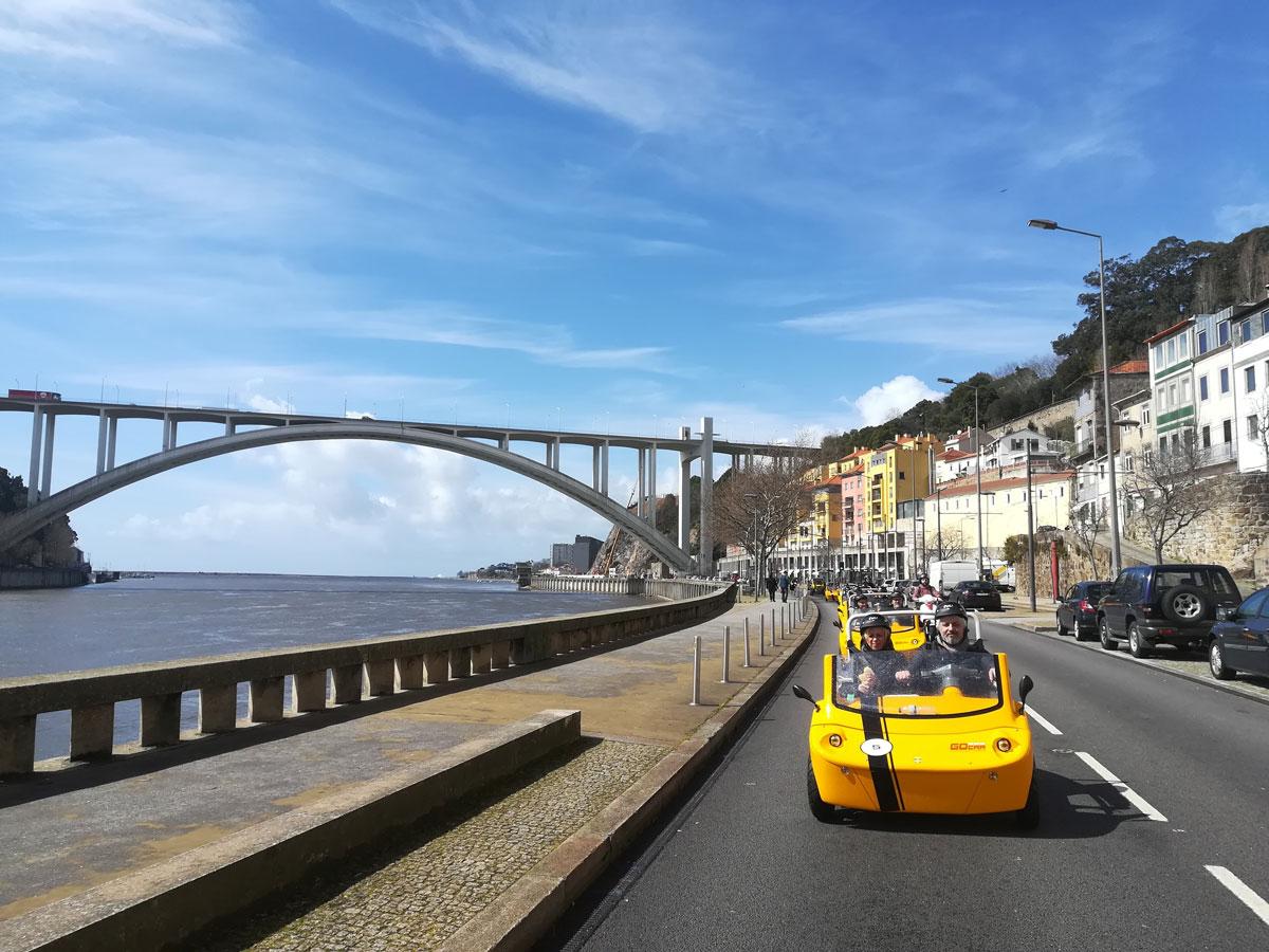 GoCar Tour – 4h Historic Downtown, Seaside Adventure, Porto Wine Lodges & City Park Matosinhos