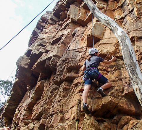 Rock Climb & Abseil at Morialta