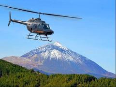 Fly over volcanoes