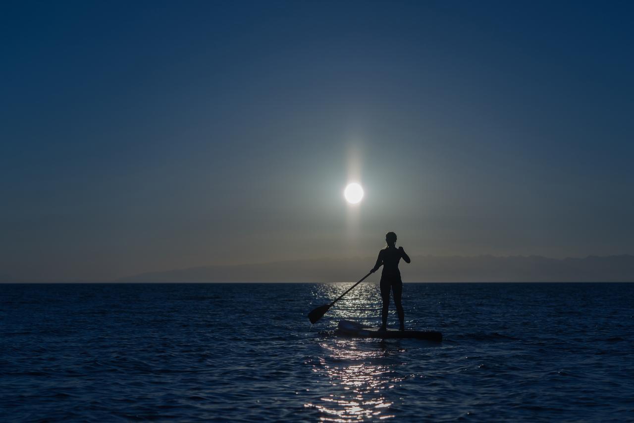 Paddleboard at the coast