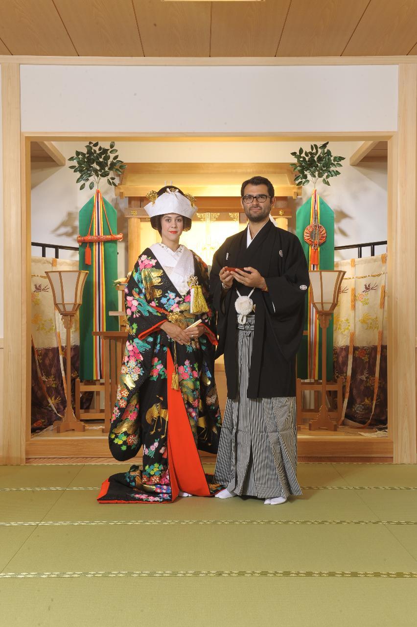 寫樂館 Sharakukan 日本傳統婚禮體驗 神社參拜作法與道地