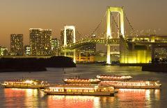 伝統的な船で都内名所を巡る東京ディナークルーズ 休日プラン