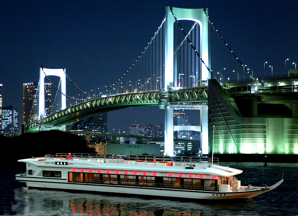 Go Around Odaiba, Sumidagawa and Tokyo Tower! Yakatabune Cruising!  (Weekday nights)
