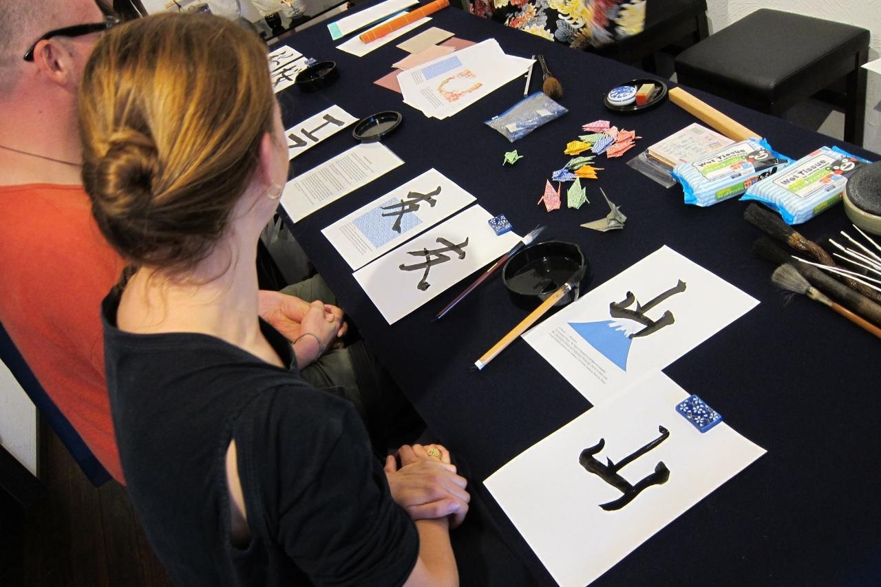 Japanese Calligraphy: Write your Favorite Japanese Character