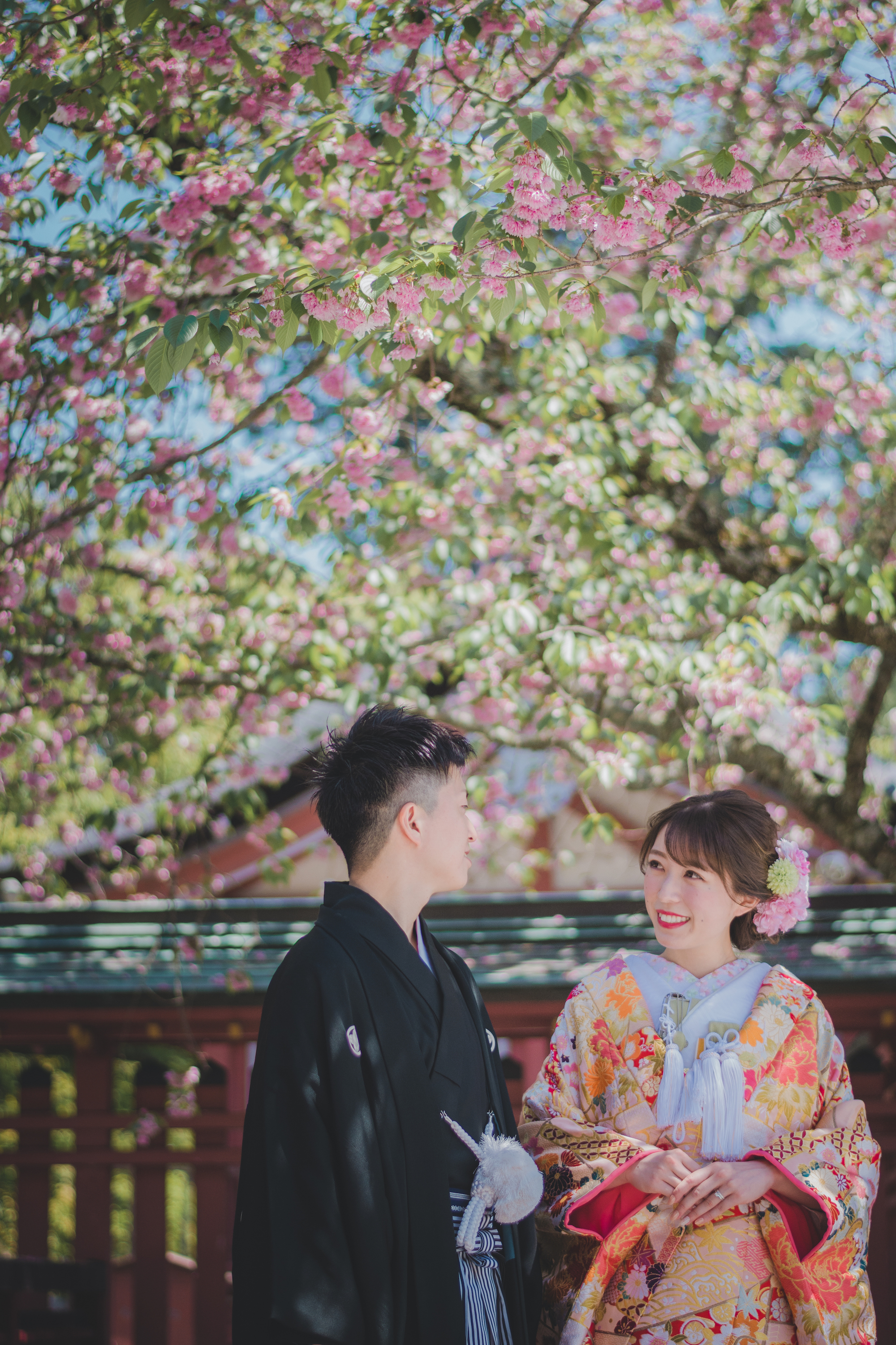 Gorgeous Japanese Wedding Photos at a Garden, Temple, or Shrine