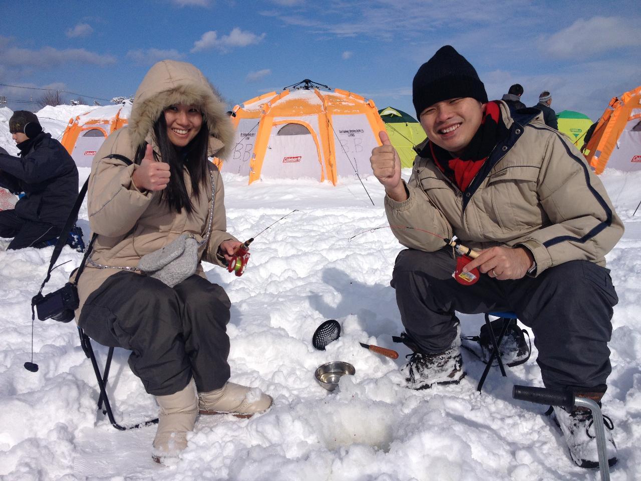 天ぷら&ステーキ付き氷上ワカサギ釣り in 北海道(午前)