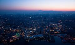 【Yokohama Sky Cruise】Exclusive Use of A Helicopter 20 min. Special Plan/ ヘリコプター日没後20分コース(貸し切り)
