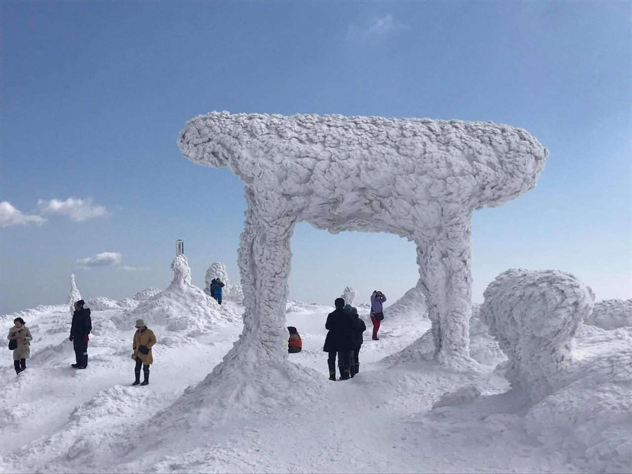 Visit an Icy Crater Lake and Frost-Covered Shrine (Spring only)