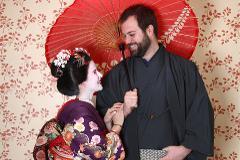 舞妓・サムライ変身撮影体験-カップルプラン