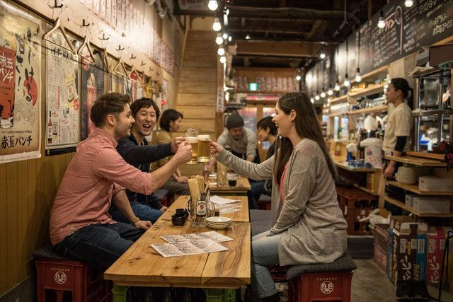 Night Food Tour Visiting Locally Loved Bars & Cycling