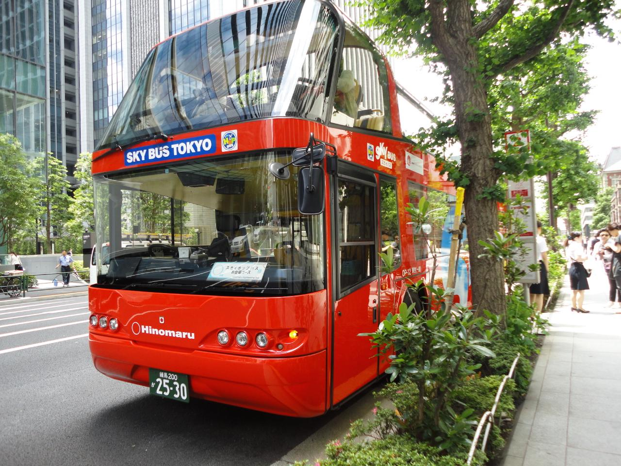 【SKY HOP BUS】Hop-on hop-off Tokyo sightseeing bus  / 終日乗り降り自由に東京観光