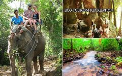 Excursion Trip (Half Day) : Elephant Trekking - Waterfall & Explore Cave
