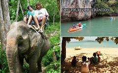 Excursion Trip : 3 in 1 Longtail Boat or Kayaking + Elephant Trekking