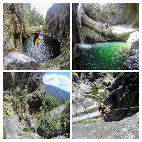 Canyoning - Start and finish in Barcelona. Transportation included