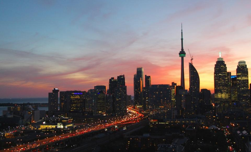Magical Sunset Flight of Toronto