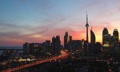 Magical Sunset Flight of Toronto