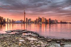 Breathtaking Sunrise Flight of Toronto