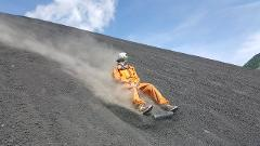Volcano boarding at Cerro Negro