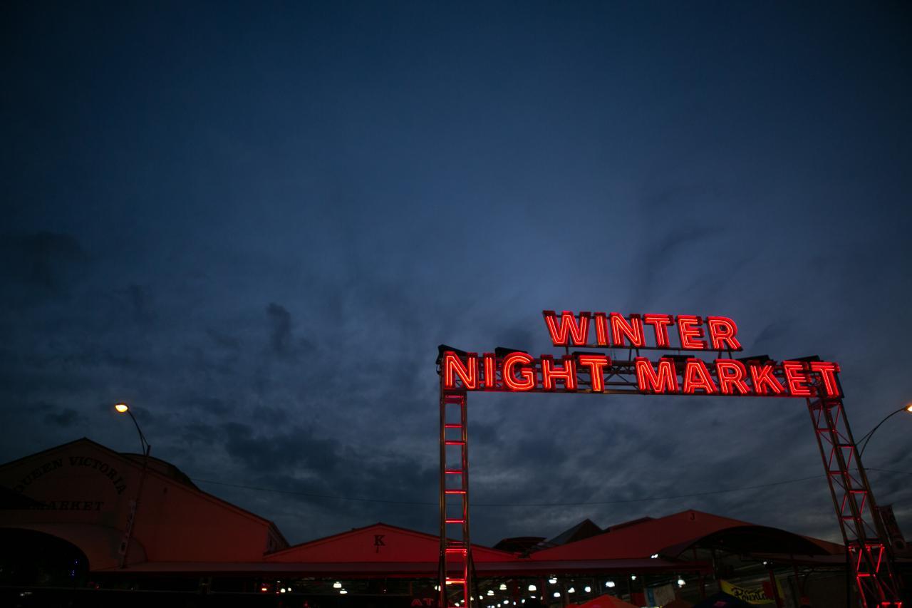 Winter Night Market Table Of Queen Victoria Market Reservations - Table 6 reservations