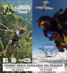 Zipline and Skydive Combo Deal