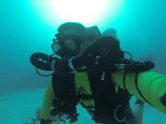 Closed-Circuit Rebreather (CCR) Air Diluent Diver on the Hollis Prism2