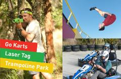 Half Day PRO Pass (Pro Karts 10, Laser Tag 60, Trampoline Park 2hr)