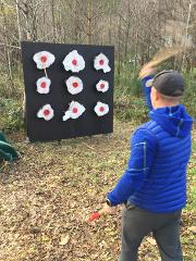 Axe Throwing at Forest Holidays Strathyre