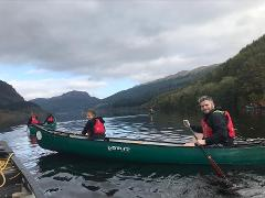 Canoeing at Forest Holidays Strathyre