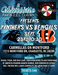 Bengals @ Panthers Tailgate and Transportation