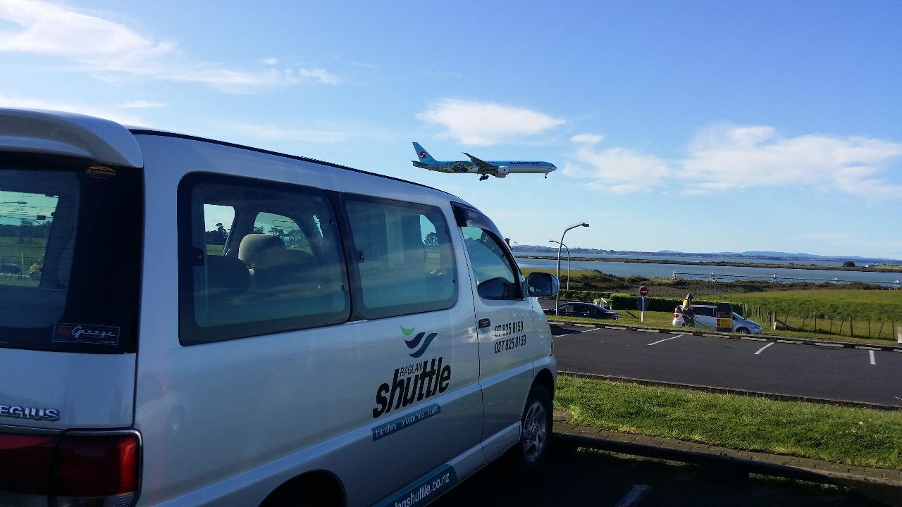 AIRPORT SHUTTLE: Raglan to Hamilton Airport