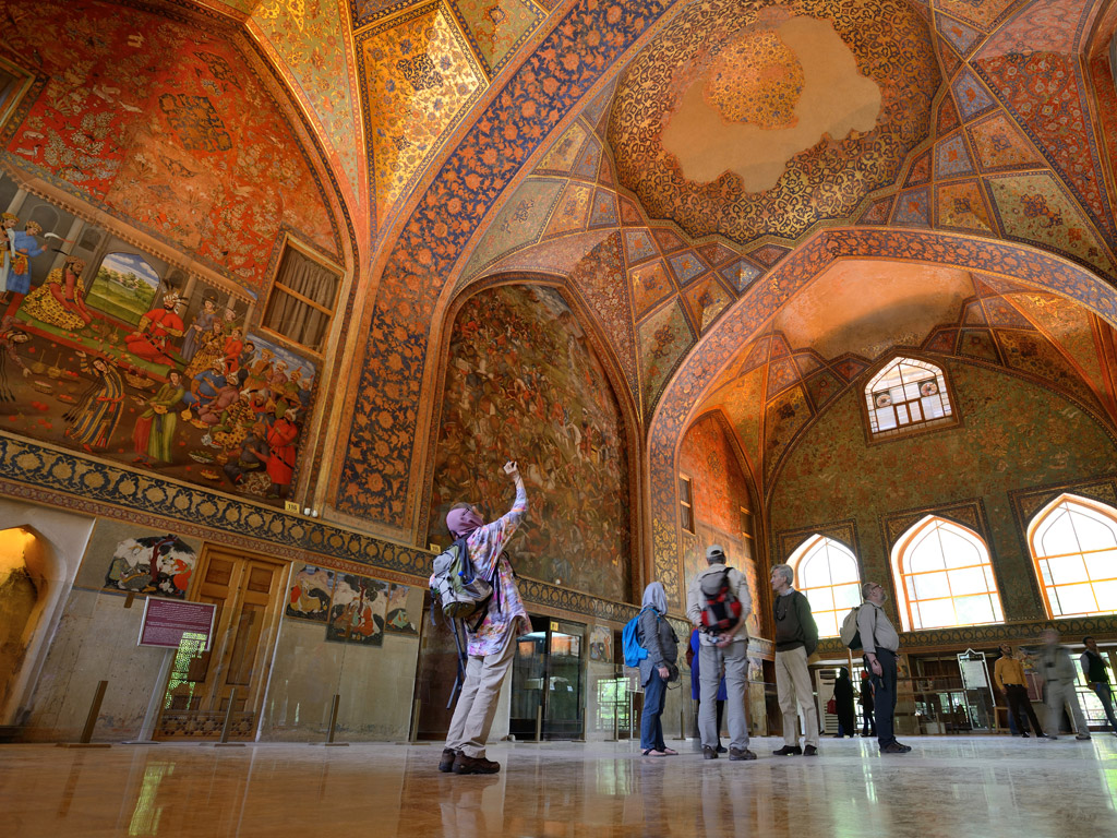 Chehel Sotoun Palace & Chah Haj Mirza Tea House - Isfahan, Iran