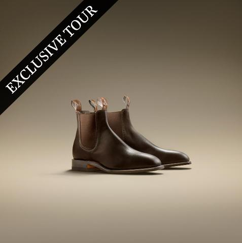 VIP RM's Factory and Flower Farm tour - includes pair of handcrafted leather RM Williams Craftsman boots