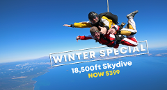18,500 ft Tandem Skydive - WINTER SPECIAL