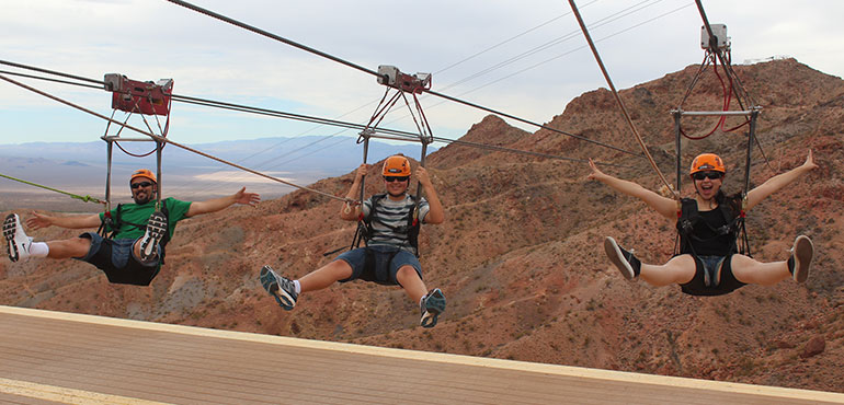 Flightlinez Zip Line Experience from Las Vegas with Roundtrip Transportation