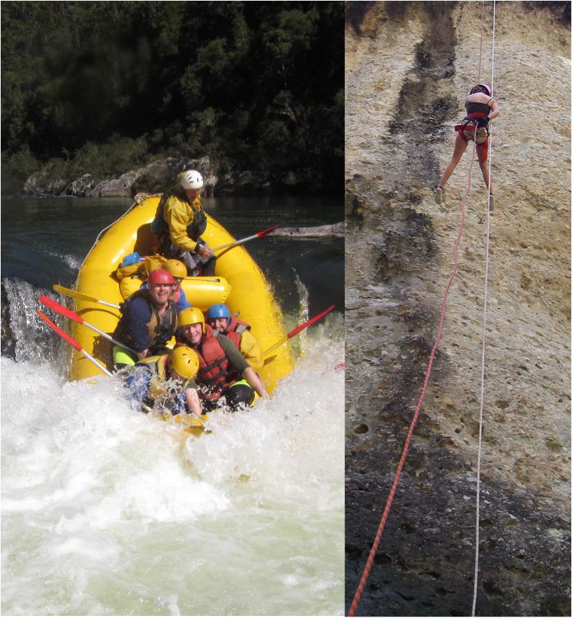 DOUBLE RUSH - Whitewater Rafting and Abseiling - day trip - Including Meals & Transfers