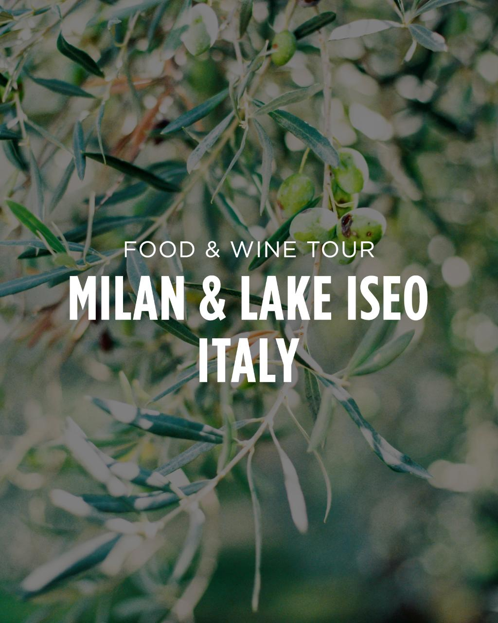 JULY 2018: Milan, Lake Como, Lake Iseo, Lake Garda, & Franciacorta Wine Country, Italy || Food & Wine Tour