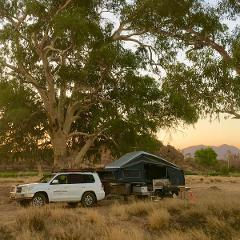 West MacDonnell Ranges & Stars – Private Overnight  Camper Trailer Tour