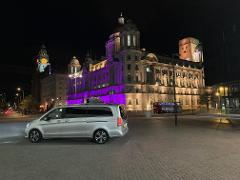 Private, Safe Liverpool by Night Tour in luxury transport for up to 6 guests.