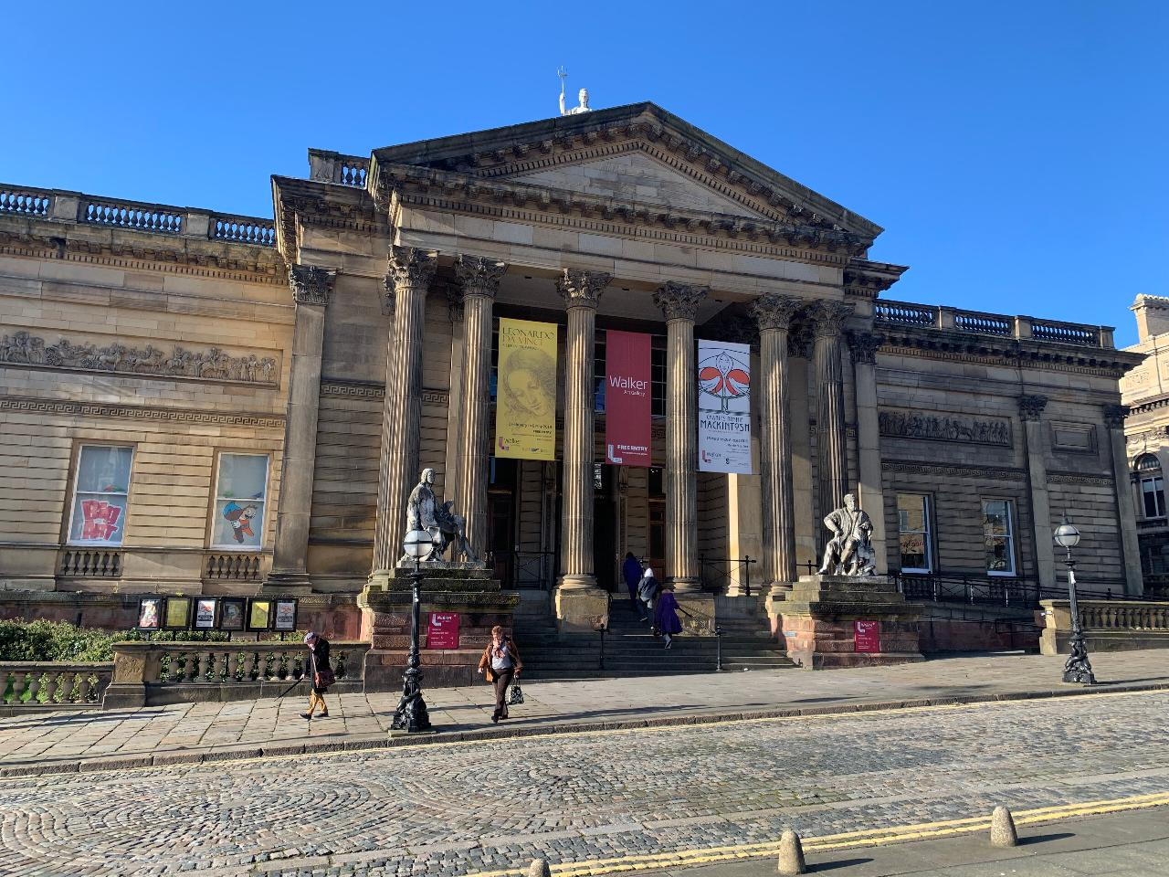 Liverpool 90-minute social distanced guided walk from William Brown Street to Waterfront Museums & Galleries.