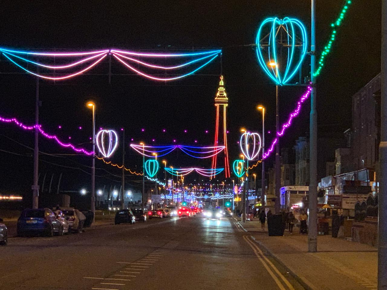 ** Special offer £195 - Blackpool Illuminations - Private Door to Door late afternoon/evening experience in luxury transport for up to 6 guests