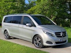 Book a licensed chauffeur driven V-class Mercedes or driver-guide from Liverpool, North Wales, Chester or Manchester