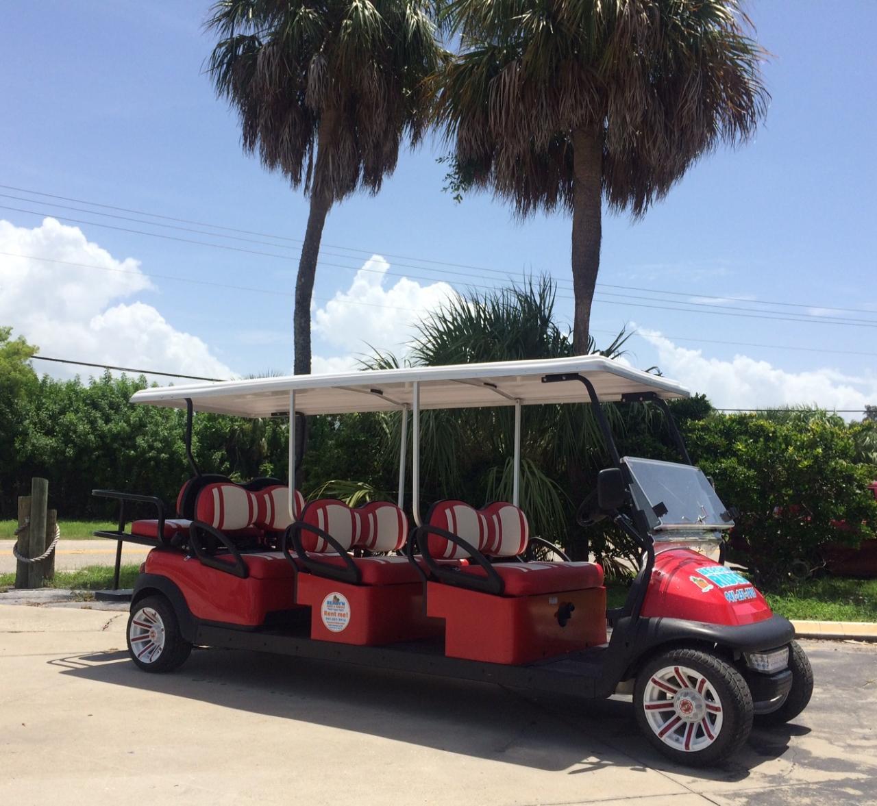 8 Passenger Street Legal Golf Cart Rental (Gas Powered ...